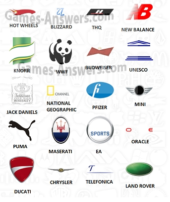 Logo Quiz answers level 3 part 1