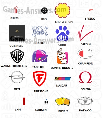 Logo Quiz answers level 3 part 3